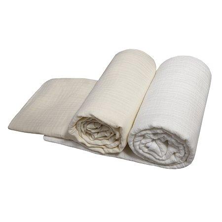 Комплект пеленок BabyEdel Слоновая кость-Молоко 2шт 1239