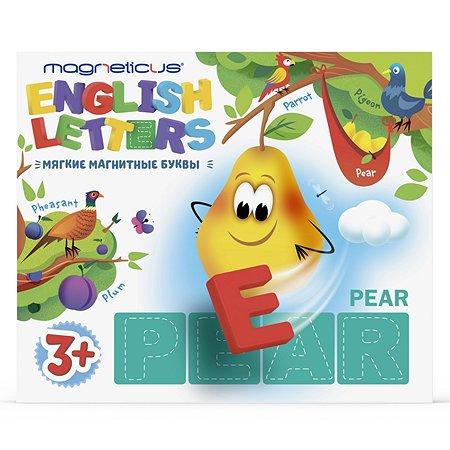 Игра настольная MAGNETICUS Мягкие буквы Английский алфавит магнитная ALF-004