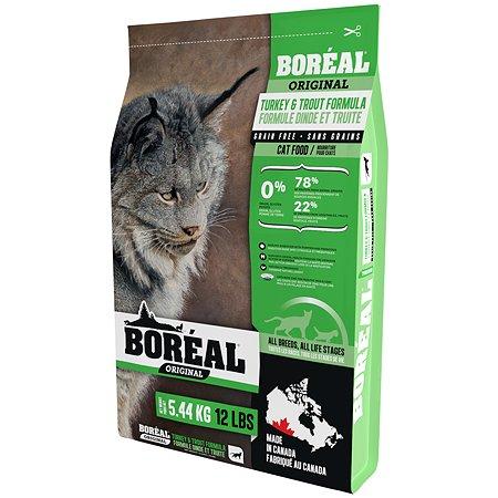 Корм для кошек Boreal Original с индейкой и форелью 5.44кг