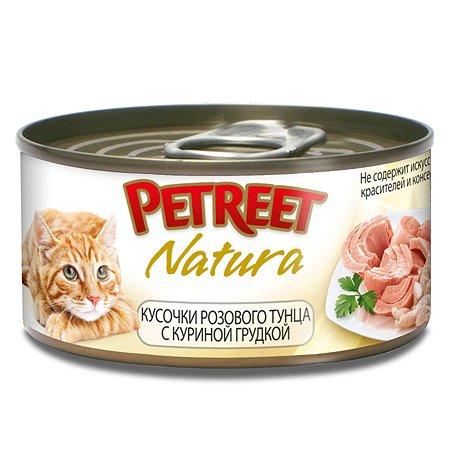 Корм влажный для кошек Petreet 70г куриная грудка с тунцом консервированный