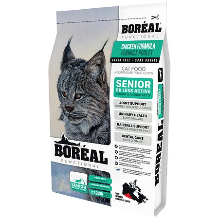 Корм для кошек Boreal Functional пожилых и малоактивных с курицей 2.26кг