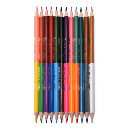 Карандаши Deli Color Run 2сторонние 24цвета EC00520