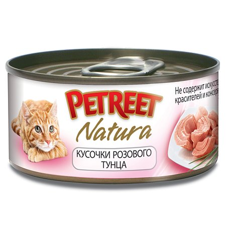 Корм влажный для кошек Petreet 70г кусочки розового тунца консервированный