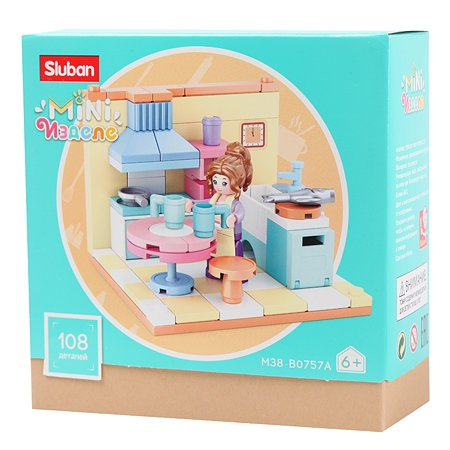 Конструктор SLUBAN Кукольный дом Кухня M38-B0757A