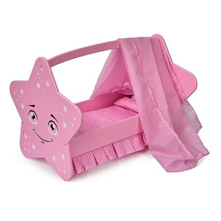 Кроватка для кукол Манюня Diamond star Розовый 74119