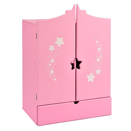 Шкаф для кукол Манюня Diamond star Розовый 74219