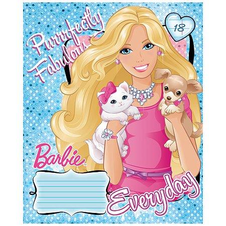 Тетрадь Полиграф Принт Barbie Линия 18л B841/5