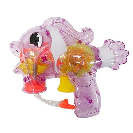 Мыльные пузыри 1TOY Мы шарики пистолет механический в виде рыбы со светом 65мл