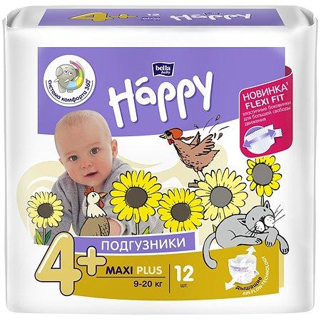 Подгузники Bella baby Happy Maxi Plus 4+ 9-20кг 12шт