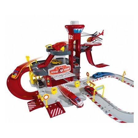 Парковка Majorette Creatix Пожарная станция +вертолет и машина 2050015