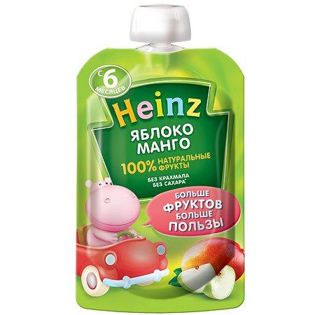 Пюре Heinz яблоко-манго пауч 90г/100г с 6месяцев