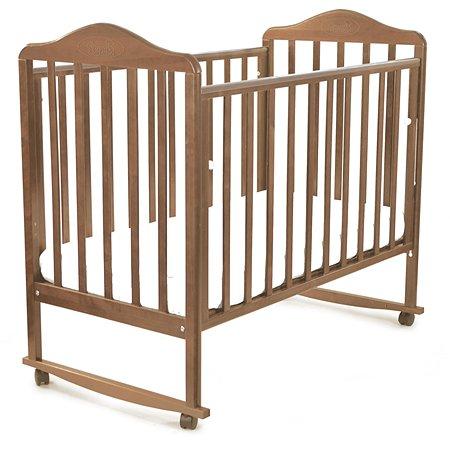 Кровать Наша Мама Джулия с колесами и качанием  цв.орех