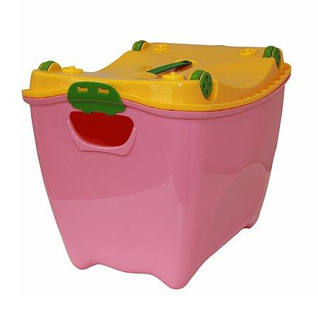 Ящик для игрушек IDEA СУПЕР-ПУПЕР 20л розовый