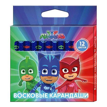 Восковые карандаши PJ masks 12 цв.