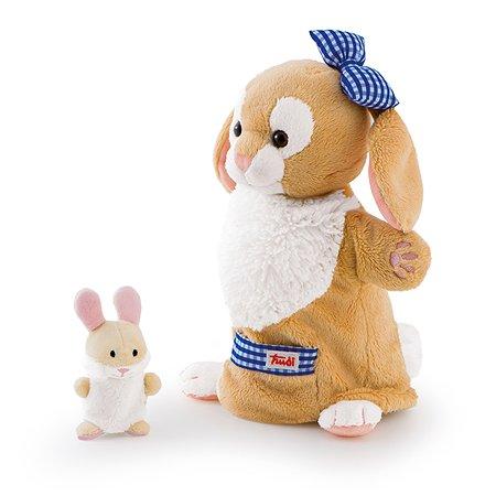 Мягкая игрушка на руку Trudi Зайчиха с зайчонком 28 см