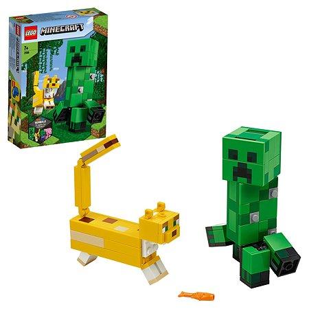 Конструктор LEGO Minecraft Крипер и Оцелот большой 21156