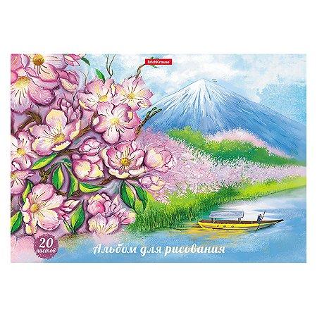 Альбом для рисования ErichKrause Цветущая Япония А4 20л 49828