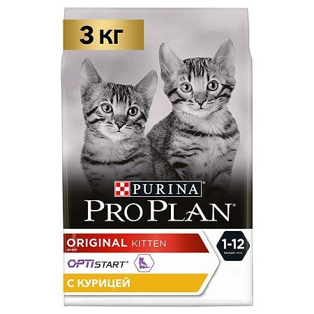 Корм сухой для котят PROPLAN 3кг с курицей