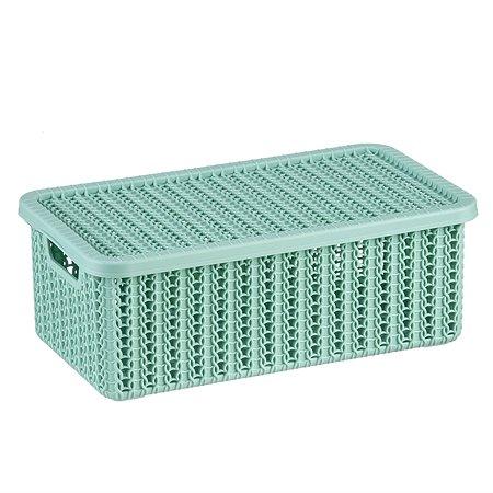 Коробка IDEA Вязание с крышкой 3л Фисташковая