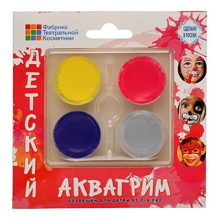 Аквагрим Фабрика театральной косметики Палитра 4цвета 540201