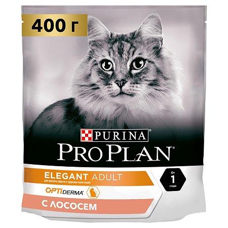 Корм сухой для кошек PROPLAN 400г с лососем с чувствительной кожей