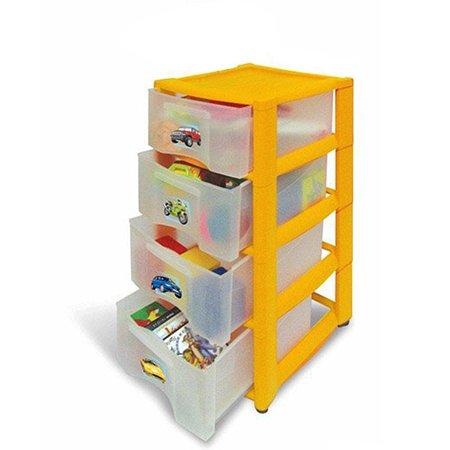 Комод детский Пластишка 4 ящика на колесах в ассортименте
