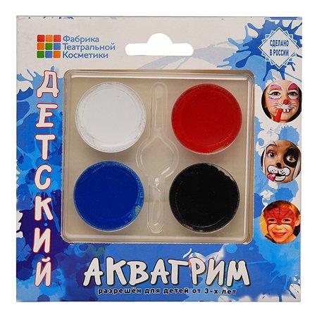 Аквагрим Фабрика театральной косметики Палитра 4 цвета 540202