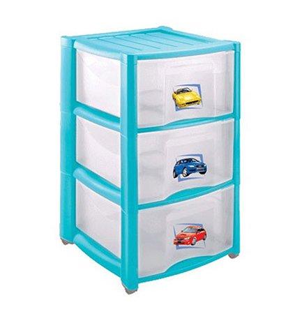 Комод детский Пластишка 3 ящика на колесах в ассортименте