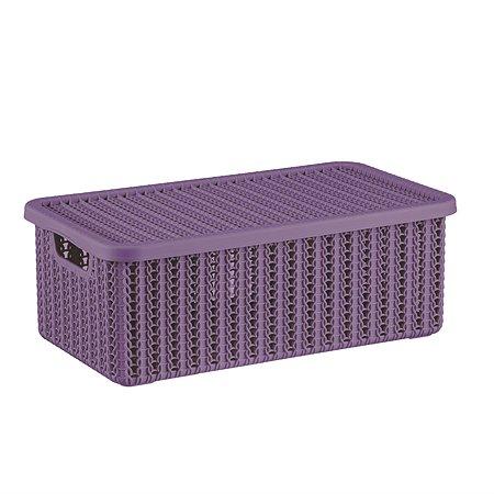 Коробка IDEA Вязание с крышкой 6л Пурпурная