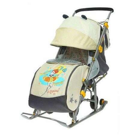 Санки-коляска Ника 7 (бежевые)