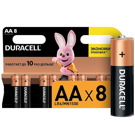 Батарейки Duracell Basic АА/LR6 8шт