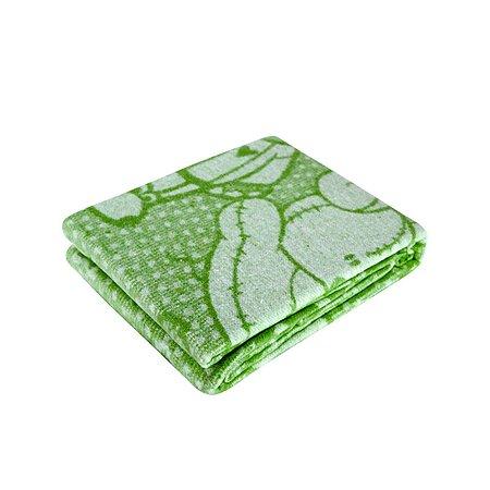 Одеяло байковое Споки Ноки жаккард 100х118 салатовое