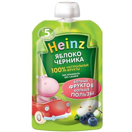 Пюре Heinz яблоко-черника пауч 90/100г с 5месяцев