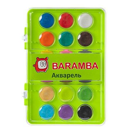 Акварель Baramba в сухих таблетках 18 цветов