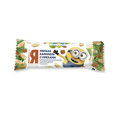 Батончик Московская ореховая компания Миньоны карамель с орехами 40г