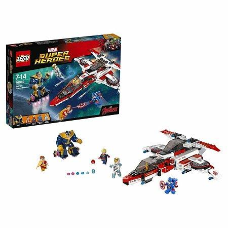 Конструктор LEGO Super Heroes Реактивный самолёт Мстителей: космическая миссия (76049)