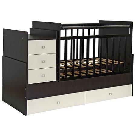 Кроватка Фея 1200 венге-беж