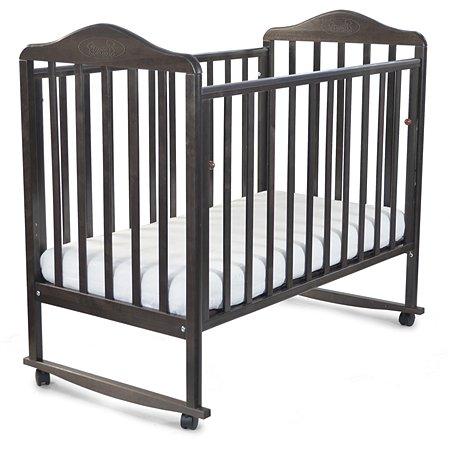 Кровать Наша Мама Джулия с колесами и качанием  цв.венге