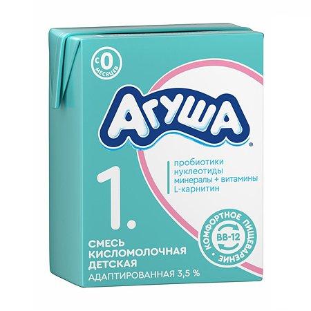 Смесь Агуша 1 сбалансированная кисломолочная 3.5% 0.2л с 0 месяцев