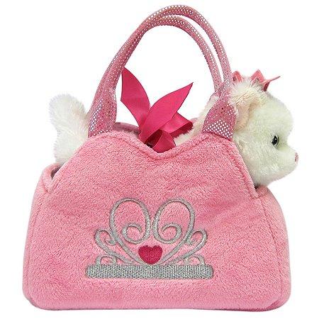 Мягкая игрушка Aurora Котенок в сумке переноске