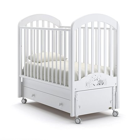 Кровать Nuovita Grano Swing с продольным маятником Bianco/Белый