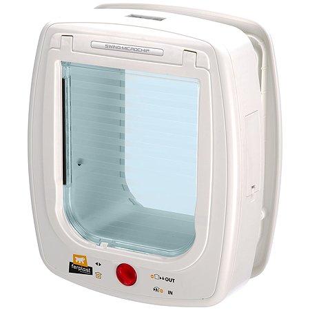 Дверь для животных Ferplast Swing microchip L с определителем микрочипа Белая