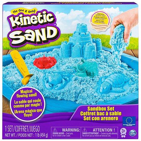 Песок кинетический Kinetic Sand с коробкой и инструментами 454г Blue 6024397/20106636