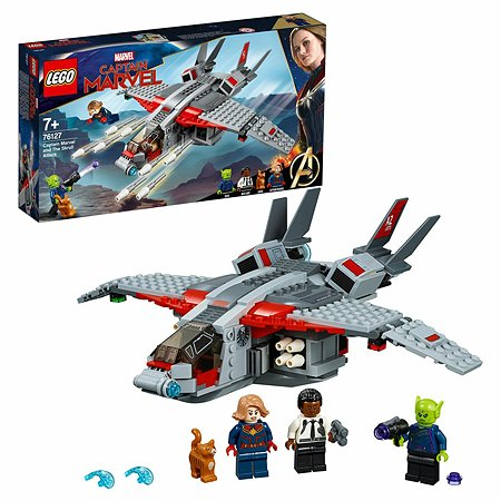 Конструктор LEGO Marvel Super Heroes Капитан Марвел и атака скруллов 76127