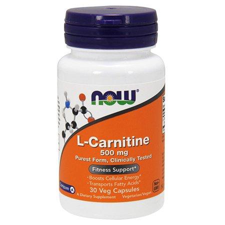 Биологически активная добавка Now L-Карнитин 896мг 30капсул