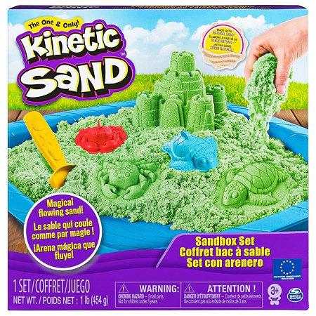 Песок кинетический Kinetic Sand с коробкой и инструментами 454г Green 024397/20106637