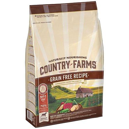 Корм для собак Country Farms Grain Free с говядиной 2.5кг