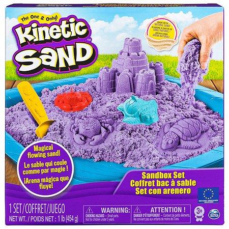 Песок кинетический Kinetic Sand с коробкой и инструментами 454г Purple 6024397/20106638