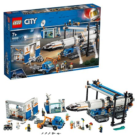 Конструктор LEGO City Space Port Площадка для сборки и транспорт для перевозки ракеты 60229