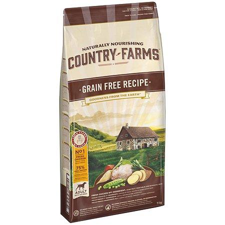 Корм для собак Country Farms Grain Free с курицей 11кг